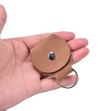 Guitar Pick Holder Genuine Leather Guitarra Plectrum Case Bag Keychain Shape