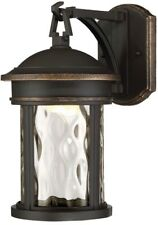 Outdoor Porch Wall Light Lantern Clear Glass Shade LED Bronze Patio Mounted Home