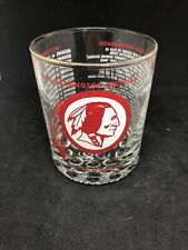 RARE 1973 WASHINGTON REDSKINS NFC CHAMPIONS WHISKEY GLASS FOOTBALL PRISTINE
