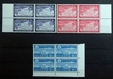 United Nations UN 1954/1960 Mint Never Hinged Blocks of 4 Palace of Nations.
