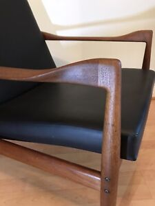 Kai Kristiansen for Fritz Hansen Danish Teak Mid Century Armchair 1960s Original