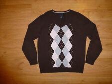 Tommy Hilfiger Thin Multi Argyle V Neck Cotton Jumper Sweater For Men Size M