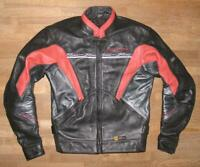 """"""" POLO """" Herren- Motorrad - Lederjacke / Biker- Jacke in schwarz - rot M ca. 48"""