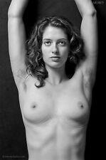 Fine Art Nude model, signed black & white photo by Craig Morey: Helena 9311BW