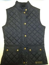 Belstaff Navy Blue Weskit Quilted Gilet Vest NWT US size XS $295