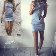 Unbranded Cotton Blend Sleeveless Shirt Dresses