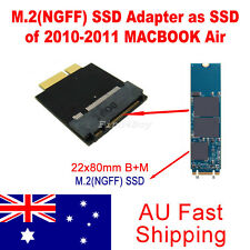 22*80mm M.2(NGFF) SSD Adapter as SSD of 2010-2011 Macbook Air Converter Adapter