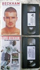 **DAVID BECKHAM**2 RARE UK VHS VIDEOTAPES**THE MAN, MYTH & LEGEND + THE REAL DB