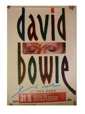 David Bowie Poster Concert Berlin 1990