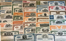 Mixed Lot of 100 Different Stock Certificates and Bonds, Various Industries