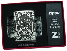 ODIN Armor Case ANTIQUE SILVER Multicut ZIPPO neu+ovp LIMITED xxx/1000