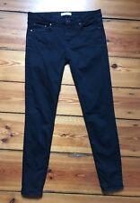 Jeans ZARA WOMAN, Gr. 36, schwarz, Used-Look, mittelh. Bund, Skinny, s. g. Zust.