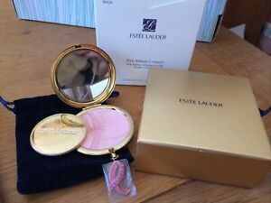 Estee Lauder Pink Ribbon Shimmer Powder Compact New Boxed With Pouch - Rare Gift