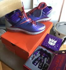 Megatron Nike CJ81 Trainer Max 9.5 w. Toy Transformers Air 90 95 Purple Red