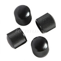 4pc Black Metal Dome Knob For Fender Strat Tele Electric Guitar Parts body