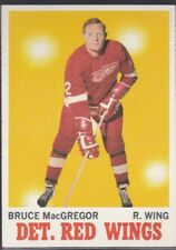 1970-71 TOPPS HOCKEY BRUCE MACGREGOR #27 RED WINGS EXMT *58808