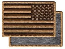 American Reverse Flag Morale USA US Army Military Hook & Loop Patch Gold Brown