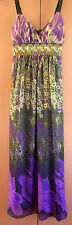 Ladies Womens Full Length Floral Chiffon Long Evening Dress NWT G-Shape Size 10