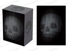 100 LEGION SUPER ICONIC SKULL MATTE DECK PROTECTORS w/ DECK BOX Black Sleeves