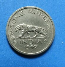 A Rare Coin of British India .Last Ruler King George VI. Last Coin 1947 1 Rupee.