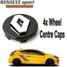 BLACK RENAULT ALLOY WHEEL CENTRE HUB CAPS LAGUNA SCENIC MEGANE CLIO TWINGO 57mm