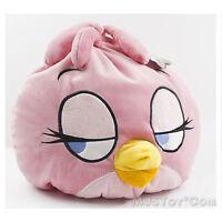 915c2471892 NWT Angry Birds Space Plush Bean Stella Doll Round Fluffy Big Pillow 12x12