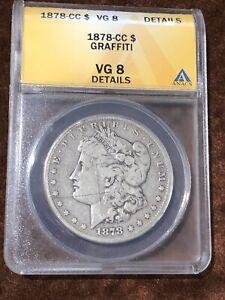 1878- Carson City Morgan Dollar ANACS VG 8