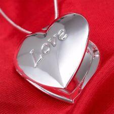 925 Silber PL.Foto Anhänger Medaillon Medallion zum öffnen Unisex mit Halskette