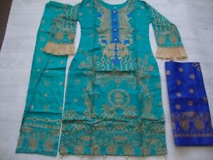 J.   Linen  Salwar Kameez  Embroidered stitched 3pc  wool shawl winter 2021