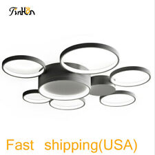 Simple Ring LED Ceiling Lamp Dimmable Modern  Flush Mount Lighting light Fixture