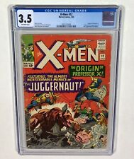 X-MEN #12 CGC 3.5 KEY! (1st Juggernaut, Origin: Professor X) 1965 Marvel Comics