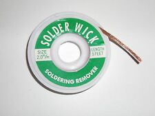 2.0 mm Desoldering Braid Solder Remover Copper Wick Spool Wire Cable 1.5m USA