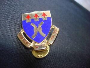 Metal Pin US 187th SUPPORT BATTALION Distinctive Insignia