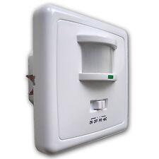 Bewegungsmelder 160° Lichtschalter McShine Unterputz Geräusch Sensor Schalter