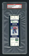 PSA 10 1994 PATRICK ROY UNUSED TICKET for the Canadiens at the Whalers