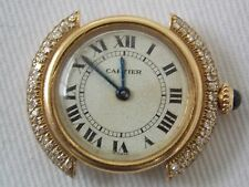 Cartier Round with Diamonds Vendome Ladies Watch 18K Yellow Gold