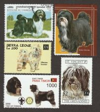 Tibetan Terrier * Int'l Dog Postage Stamp Art Collection * Unique Gift Idea *