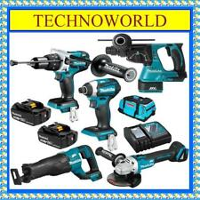MAKITA 18V BRUSHLESS 5PC 2 X 5.0AH COMBO KIT DLX5028T◉GRINDER◉SAW◉HAMMER-DRILL