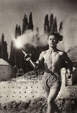 1936 Vintage Greece OLYMPICS MALE Running Semi Nude Photo Art ~ LENI RIEFENSTAHL