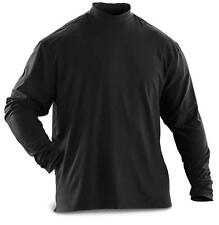 Jersey Mock Turtleneck Shirt - New U.S. Military - DSCP Collection - XXL / Black