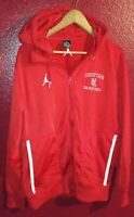 """Nike Air Jordan Men's """"Chieftain"""" Flight Sweatshirt Small Red Full Zip Hoodie"""