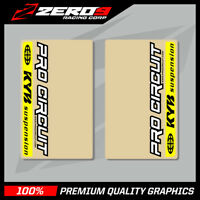 KYB UPPER FORK DECALS MOTOCROSS GRAPHICS MX GRAPHICS PROCIRCUIT CLEAR YELLOW