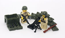 WW2 American Mortar Team Squad World War 2 Playset made with real LEGO(R) parts