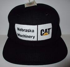 CAT Caterpillar Nebraska Machinery Patch Snapback Hat Cap Foam Padding NWT