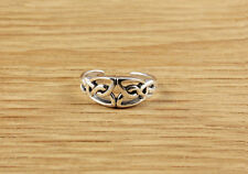 Gorgeous Sterling Silver Celtic Toe Ring Vintage Style Womens 925 Adjustable