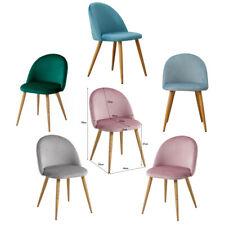 Samt Stuhl Polsterstuhl Shell Esszimmerstuhl Stühle Rosa Grau Grün 2er 4er Set