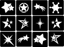 12x Srats top up glitter tattoo kit face painting Airbrush (reusable)