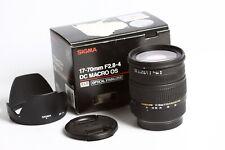 Sigma dc 2,8-4/17-70 macro HSM canon af/no para Digital