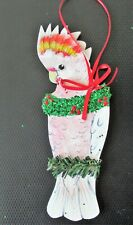 Major Mitchells Leadbeater Cockatoo Christmas Holiday Tree Ornament