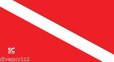 """Microfiber Towel - Dive Flag - Scuba Dive - Travel - Large 32"""" x 60"""" - D680"""